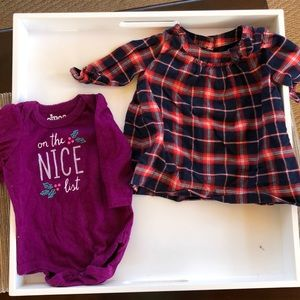 Other - 0-3 months Christmas dress & onesie
